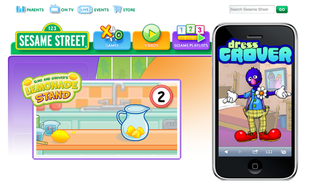 Sesame Workshop project screenshots